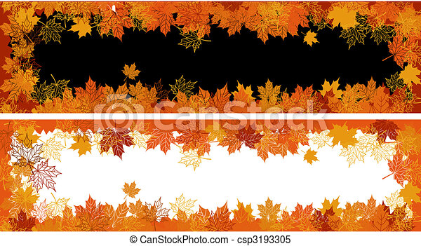 Autumn frame: maple leaf. Place for your text here. - csp3193305