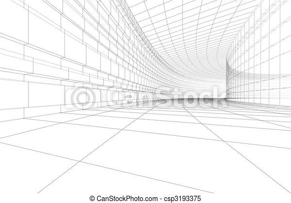 3D architectural construction - csp3193375
