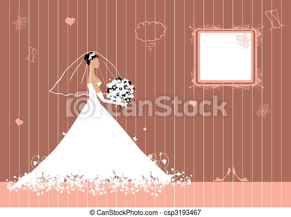 Bride beautiful with bouquet - csp3193467