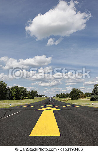 Rural runway in Southern Wisconsin - csp3193486