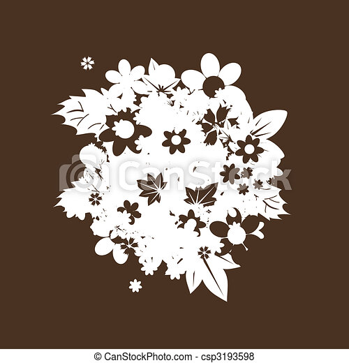 Vector Floral bouquet silhouette for your design