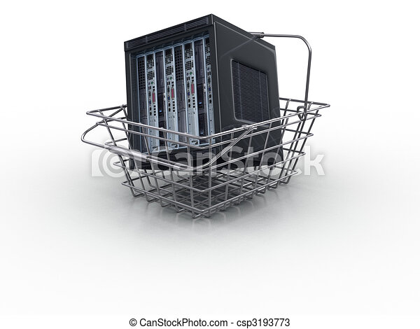 3d server in the cart - csp3193773