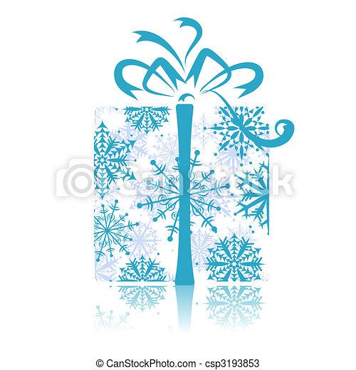 Christmas gift box - csp3193853