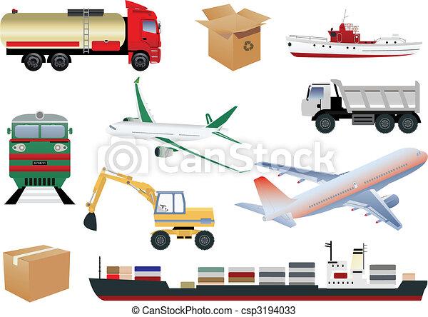 Transportation icons - csp3194033