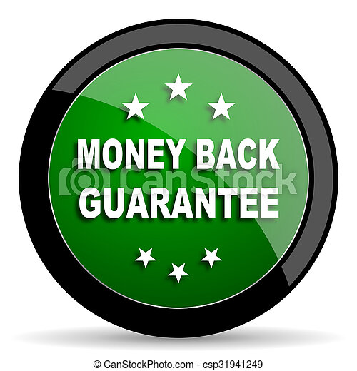 Stock Photo of money back guarantee green web glossy icon with shadow on... csp31941249 - Search ...