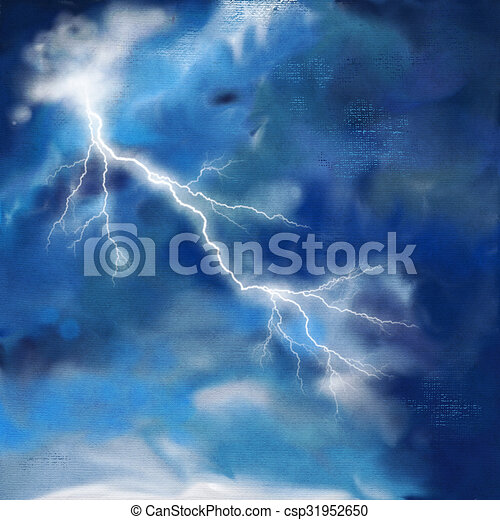 stock illustrations of night storm sky painting background