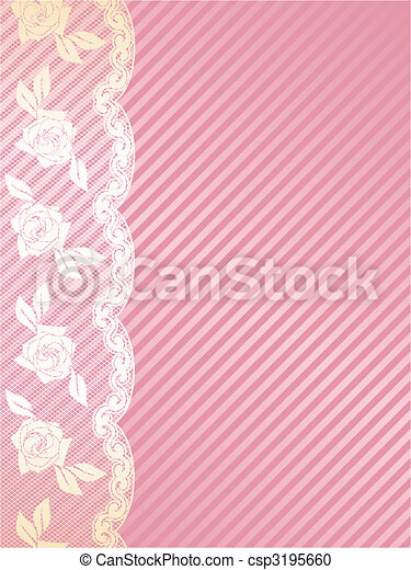 Pink and gold French lace background - csp3195660