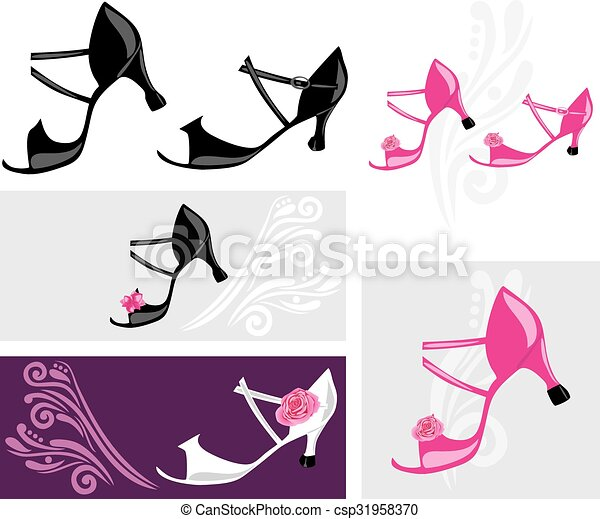 Dance shoes Clipart Vector and Illustration. 2,504 Dance shoes ...