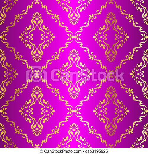 clipart vektor von gold auf rosa seamless swirly indische muster csp3195925 suchen. Black Bedroom Furniture Sets. Home Design Ideas