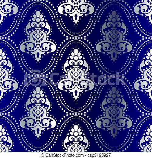 vektoren illustration von blaues punkte muster seamless indische silber csp3195927. Black Bedroom Furniture Sets. Home Design Ideas