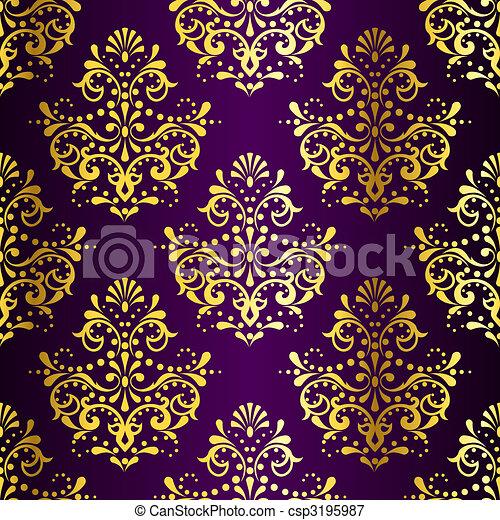 vektoren illustration von kompliziert gold auf lila. Black Bedroom Furniture Sets. Home Design Ideas