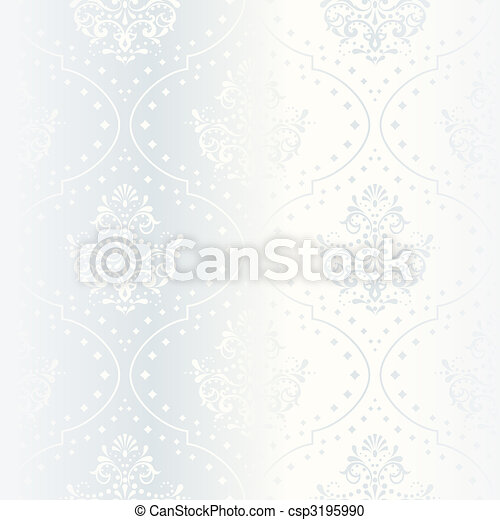 Intricate white satin wedding pattern - csp3195990