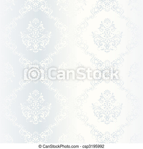 Intricate white satin wedding pattern - csp3195992