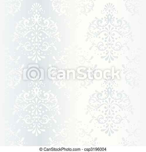 Intricate white satin wedding pattern - csp3196004