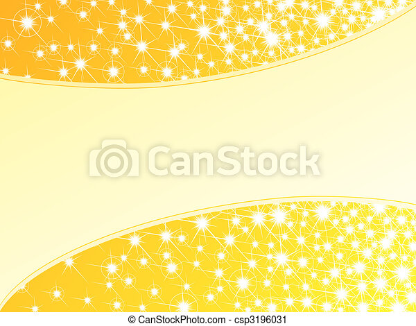 Bright yellow sparkly background, horizontal - csp3196031