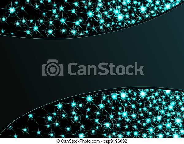 Dark sparkly background, horizontal - csp3196032