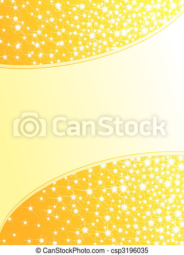 Bright yellow sparkly background, vertical - csp3196035