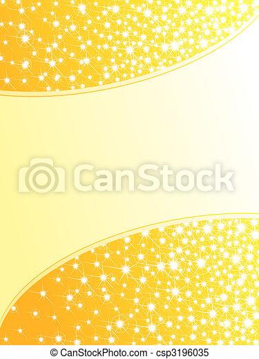 Bright yellow sparkly background, vertical - csp3196035