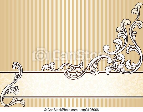Elegant vintage sepia banner, horizontal - csp3196066