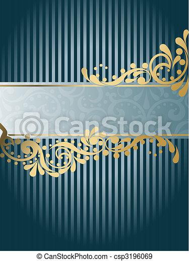 Vintage Victorian banner, vertical - csp3196069