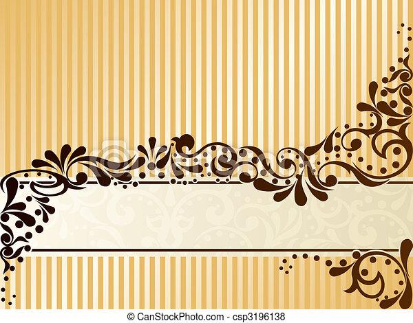 Vintage sepia banner, horizontal - csp3196138