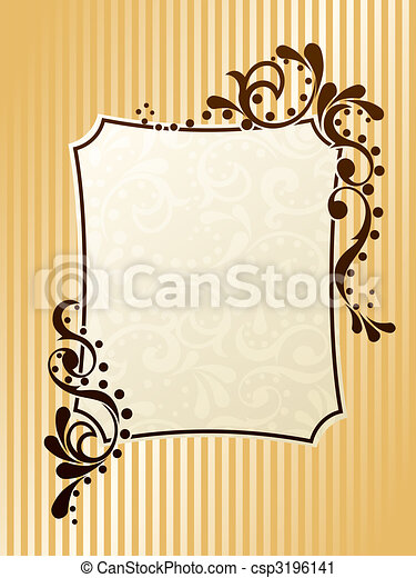 Vintage rectangular sepia frame - csp3196141