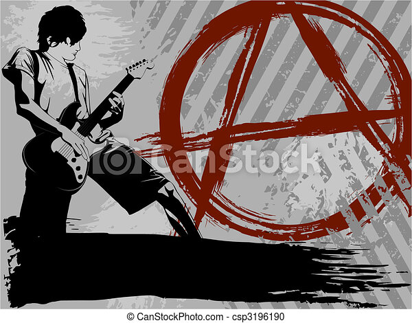 Black and grey Punk rock background - csp3196190