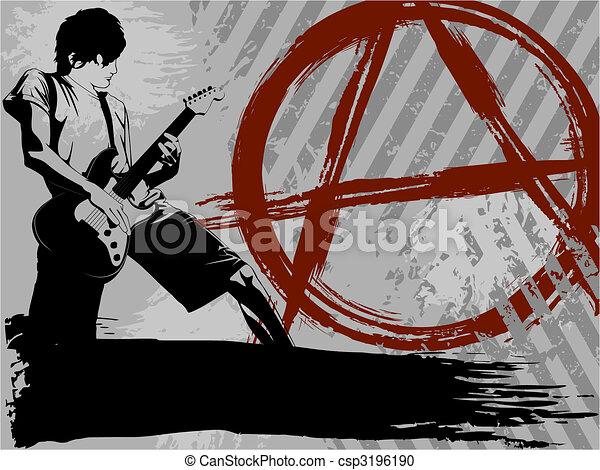 Black and grey Punk rock background - csp3196190