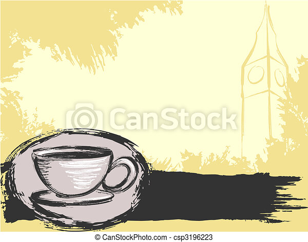 Grungy English tea background - csp3196223