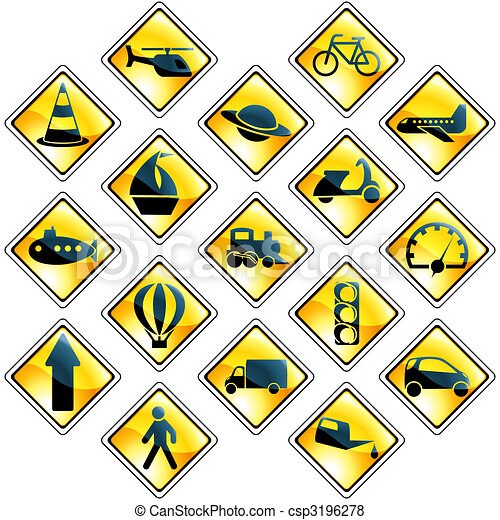 Easy Traffic Drawing Set of 17 Yellow Traffic And