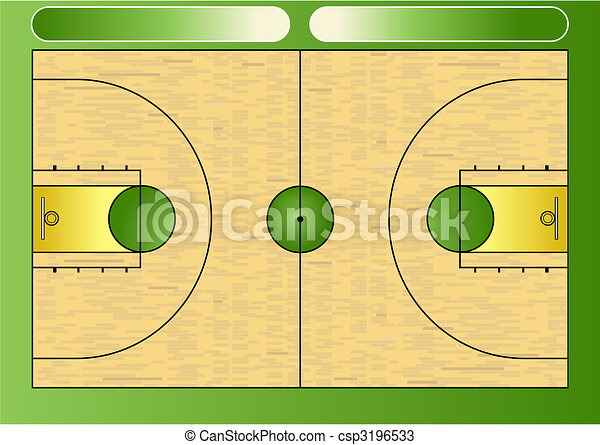 Basketball court - csp3196533