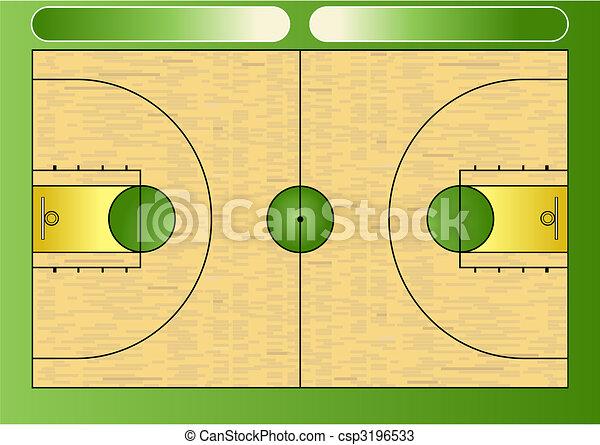 Basketball court - csp3196533