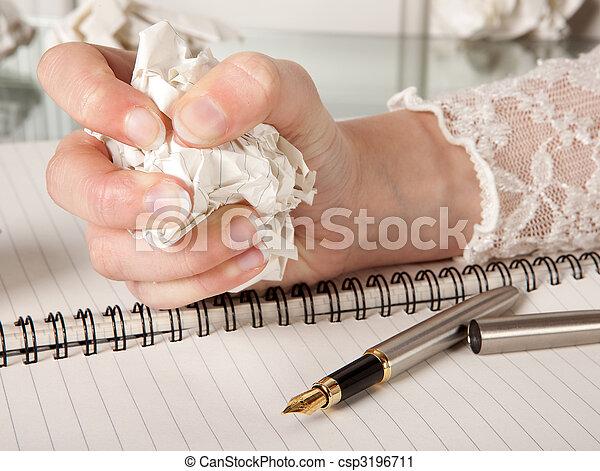 Writer\'s frustration - csp3196711
