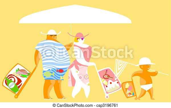 Bags beach - csp3196761