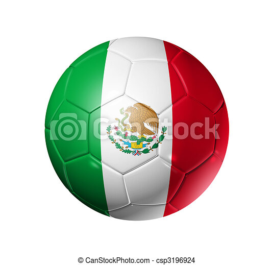 dessin de football drapeau balle football mexique 3d