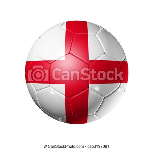 Soccer football ball with England flag - csp3197091