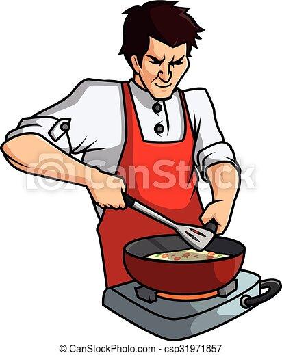 Vecteur clipart de vecteur cuisine homme dessin anim - Dessin anime de cuisine ...