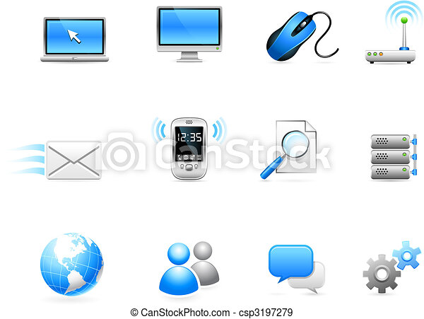 Communication technology icon collection - csp3197279