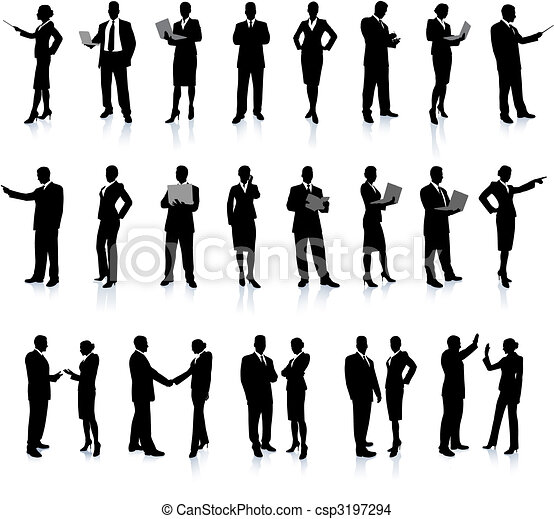 Business People Silhouette Super Set - csp3197294