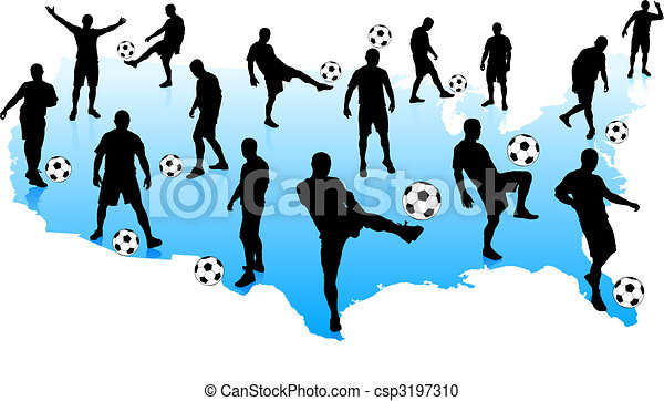 Soccer Players with United States Mao - csp3197310