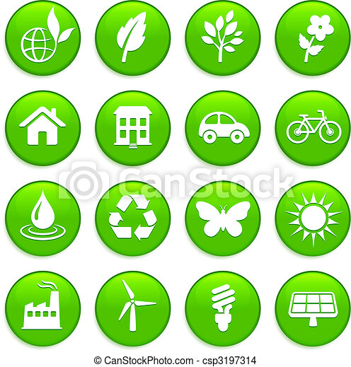 environment elements icon set - csp3197314
