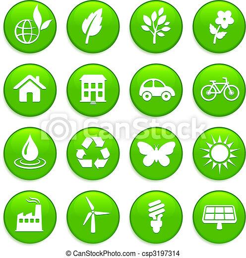 environment elements icon set - csp3197314