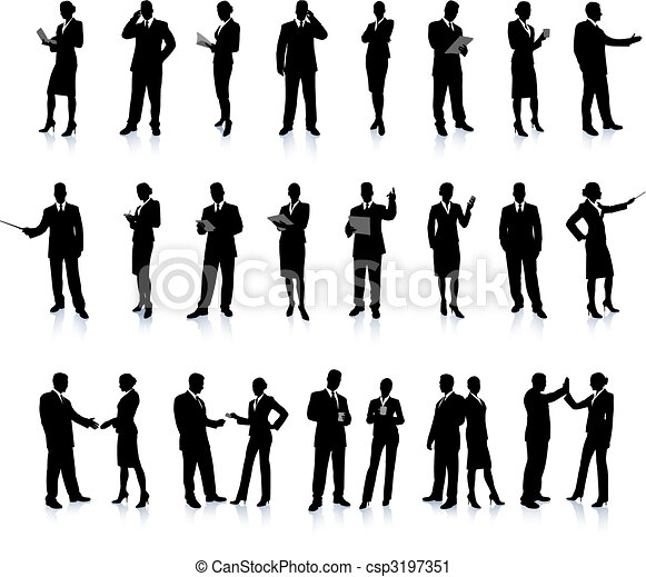 Business People Silhouette Super Set - csp3197351