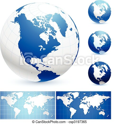 Globes and World Maps - csp3197365