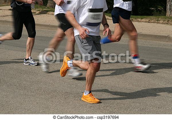 Marathon running - csp3197694
