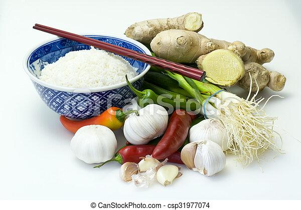 Asian ingredients - csp31977074