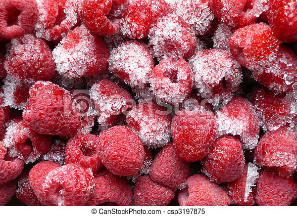 frozen raspberries - csp3197875