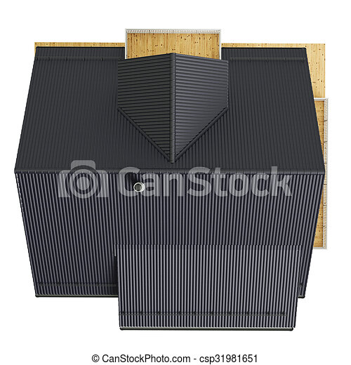 Stock Illustrations Of Roof House Top View 3d Graphic