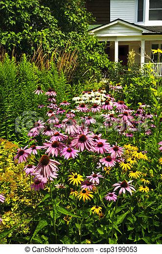 Residential garden landscaping - csp3199053