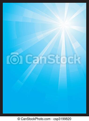 Blue vertical assymetric light burst - csp3199820